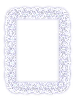 Lace frame (snow crystal)