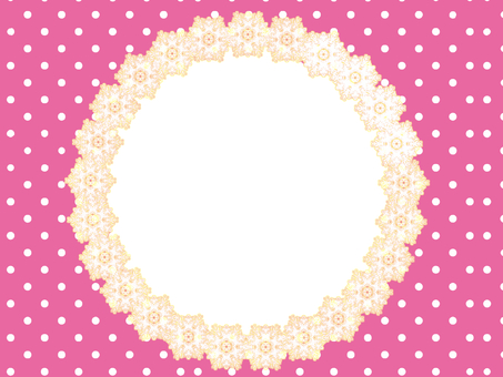 Girly polka dots with pink
