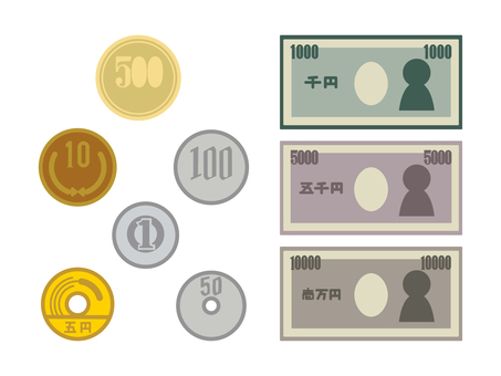 Coins and banknotes