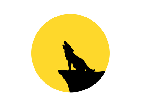 Moon and wolf