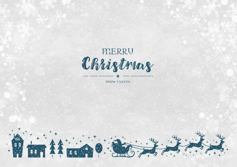 Winter background frame 030 Xmas dark blue