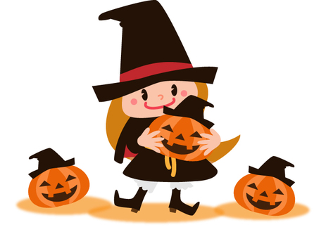 Witches and pumpkin