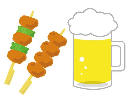 Yakitori beer