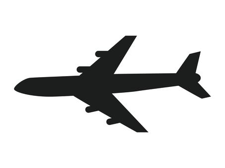飛行機 シルエット