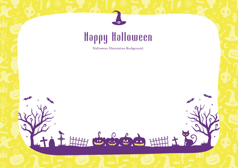 Fall background frame Halloween Part 3