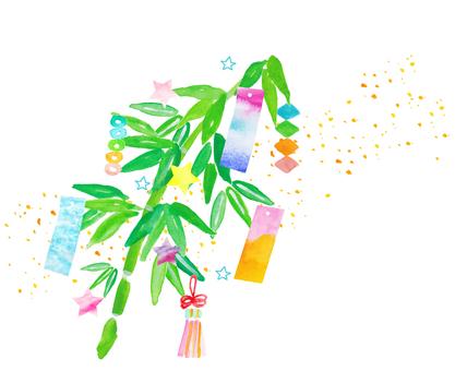 Tanabata bowl decoration watercolor
