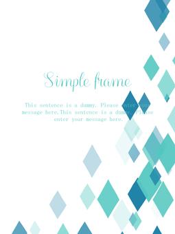 Diamond frame 02 / blue