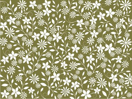 花卉图案 - 橄榄