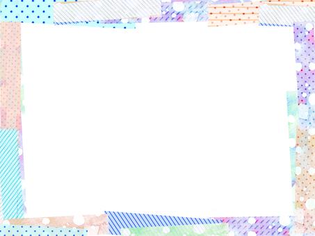Colorful sticky note frame 2