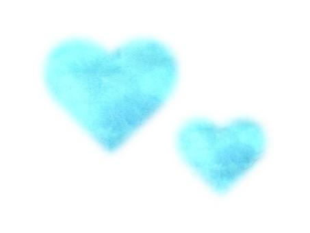 [Watercolor texture] Heart illustration