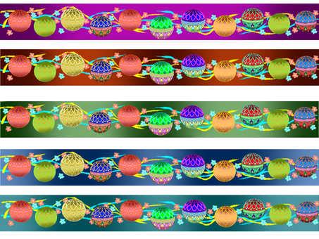Japanese pattern belt Mari 1