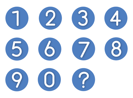 Numeral number (blue)