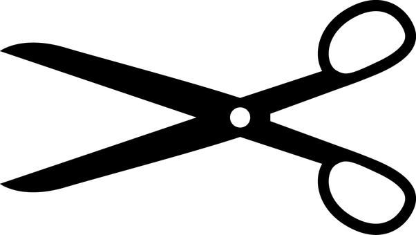 Scissors _ Silhouette _ Black