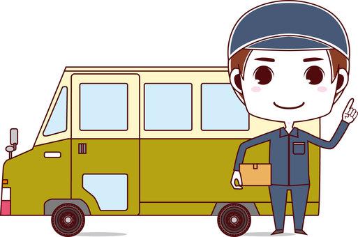 Deliveryman & Wagon_Male 01