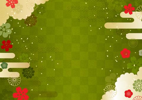 Japanese pattern matcha green side
