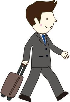 Business trip businessman