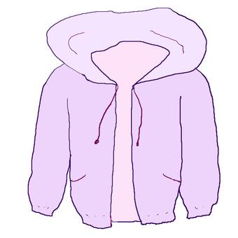 Clothes zip parka