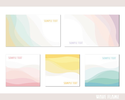 Pastel abstract frame wave