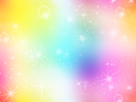 Background Starry Sky Rainbow 1