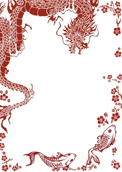 Chinese style dragon background