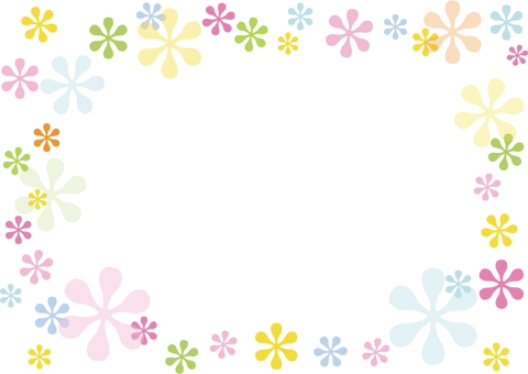 Pastel color flower frame