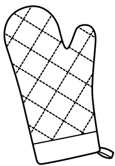 Mittens line drawing