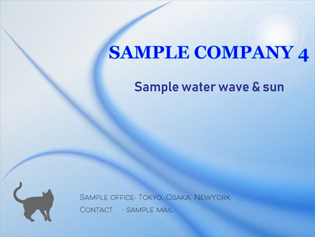 Business template water wave