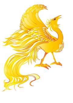 Phoenix yellow & gold