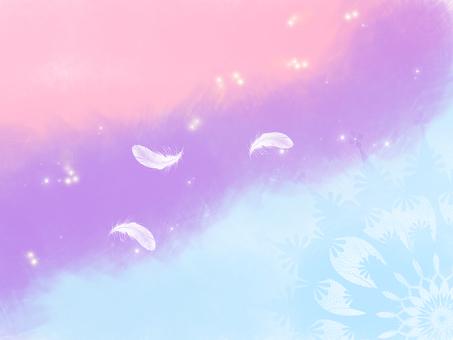 パステル空と羽