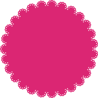 Pink lace frame (round shape)