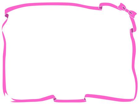 핑크 리본 프레임
