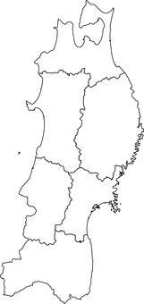 Tohoku region _ line drawing