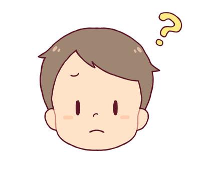 Facial expression - doubt (boy)