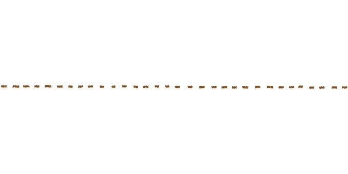 点線_手描き_茶色