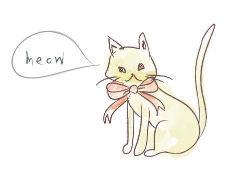 Rough drawn cat