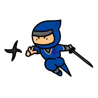 Illustration of a ninja throwing a shuriken