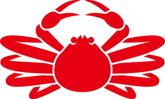 Matsuba crab _ Silhouette _ 02 _ red