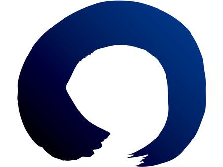 Brush line (circle / blue → ink)