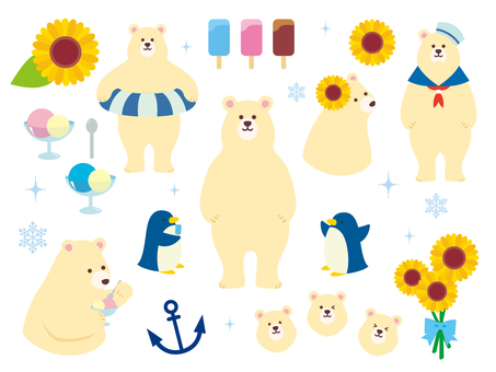 Polar bear illustration collection