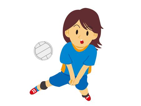 打排球的女孩