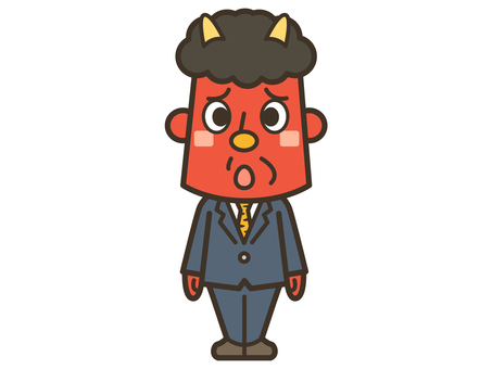 Red demon 001 where Setsubun ends and begins job hunting
