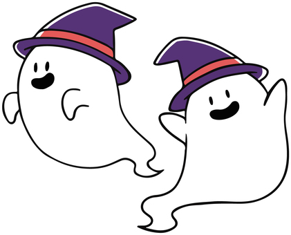 Ghost wearing a hat