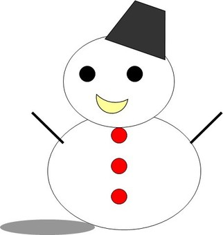 Snowman with shadow