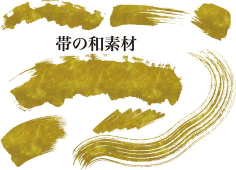 Japanese material of gilt strip