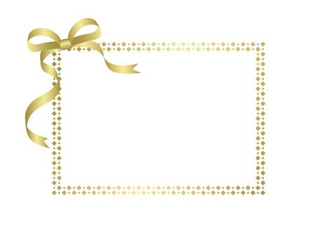 Glitter card gold & white