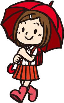 Umbrellas and girls