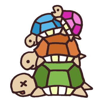 Parent and child turtle