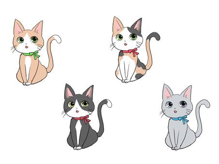 Cat Set Hachiwale Trio Cat Gray
