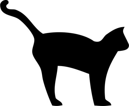 Cat silhouette (intimidation)