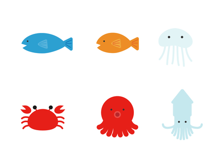 Sea creatures Simple motif